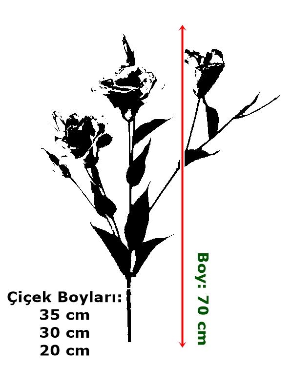 yapay çiçekli bitki