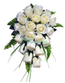 Yapay beyaz gül gelin çiçeği