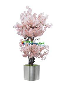 Çift katlı şeker pembesi yapay Sakura Ağaç