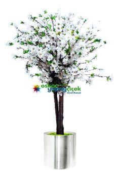 Yapay Beyaz çiçekli erik ağacı