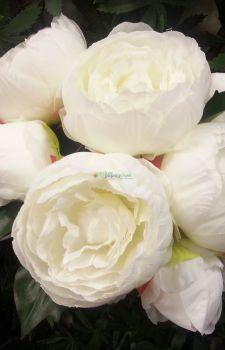 Yapay Beyaz Şakayık çiçeği